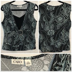 Cato sleeveless top size medium